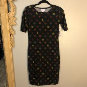 LulaRoe Star ⭐️ Spangled Midi Dress. Julia style.